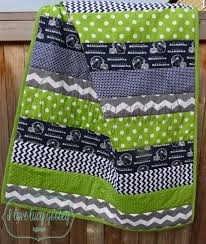 69 best Seahawks Quilts images on Pinterest | Seattle seahawks ... & Seattle Seahawks Striped quilt by ILoveLucyGoosey Adamdwight.com