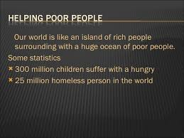 helping poor people