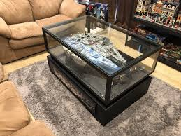 finished my falcon coffee table lego