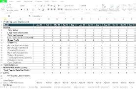 Profit Loss Statement Template Excel Urldata Info