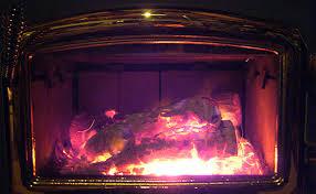 wood stove glass door