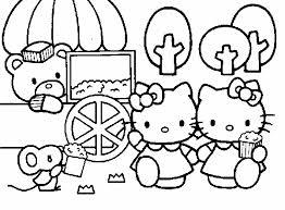 Hello Kitty E I Pop Corn Disegni Da Colorare Gratis Coloring Page