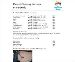 Commercial Cleaning Price Chart 8 Cleaning Price List Templates Free Word Pdf Excel