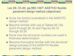 Aashto 93 Flexible Pavement Design Ppt Lec 29 Ch 20 Pp 990 1007 Aastho Flexible Pavement