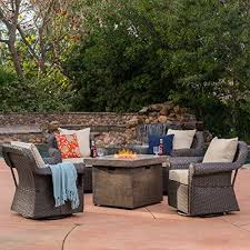 gas patio table. augusta-patio-furniture-5-piece-outdoor-wicker-swivel- gas patio table t