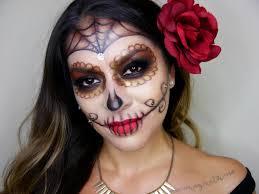 y glam sugar skull makeup tutorial dia de los muertos you