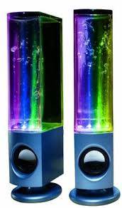 awesome computer speakers. soundmaster dancing water speakers - awesome in a studio! computer