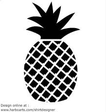 pineapple clipart black and white. juciy-black-pineapple pineapple clipart black and white