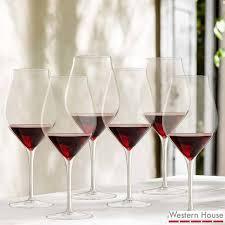 luigi bormioli vinea crystal glass 550ml red wine glasses 6 pack