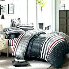 black and white striped bedding gray duvet cover set d red quilt