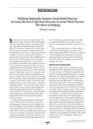 defining spiritually sensitive social work practice pdf  defining spiritually sensitive social work practice pdf available