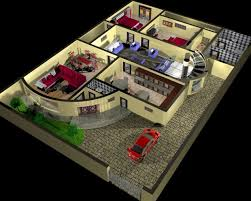 house plan and interior design 3d royalty free 3d model preview no 1