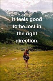 Direction Quotes Delectable Inspirational Hiking Quote Lost In The Right Direction Quotes Aiyoume