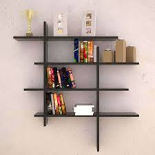 Wall Bookshelf Furniture White Floating Wall Shelves New 2017 Wooden Bookcase