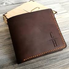 personalized leather wallet gift for him
