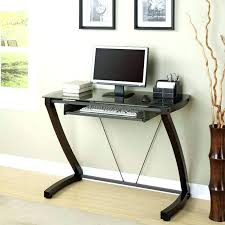 full image for btmcompact corner computer desk with 3 shelves small keyboard shelf compact printer storage