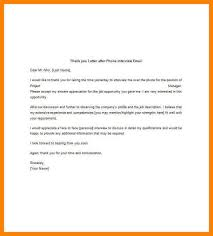 phone interview thank you email sample thank you letter after phone interview email