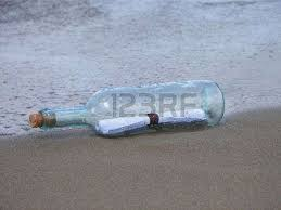 letter in a bottle the letter in the bottle at seaside stock photo picture and royalty