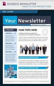 Business Newsletter Templates Free Download Extraordinary Single Page Newsletter Template Studiojpilates
