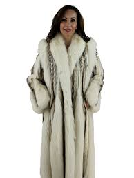 woman s tourmaline pastel and mahogany mink fur coat with fox inserts and tuxedo front