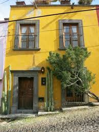 A typical, but not grand, house in the old part of Queretaro, gives