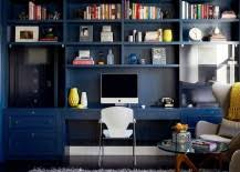 eclectic home office. Leather Desk And Antique Chairs Add Sophistication To The Stylish Home Office [Design: Fun House Furnishings \u0026 Design] Eclectic A
