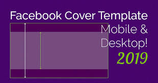 Free Facebook Covers Templates Ingenious Facebook Cover Photo Mobile Desktop Template 2019