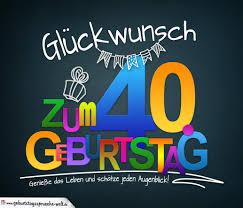 Sprüche Zum 40 Geburtstag Karte Mit Schönem Spruch Zum Nachdenken
