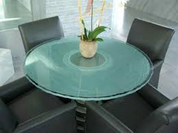 modern glass table onde lineari design