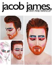 James Face Chart Jacob James Hair Makeup My Version Of Alex Box Makeup
