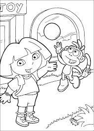 Dora The Explorer Coloring Pages Dora The Explorer Coloring Pages