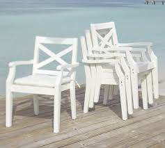 impressive hampstead painted stacking dining chair white pottery barn inside white outdoor chairs modern