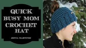 Bun Hat Pattern Mesmerizing How To Crochet A Messy Bun Hat YouTube