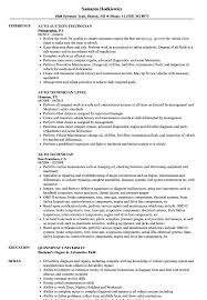 Automotive Technician Resume Auto Technician Resume Samples Velvet Jobs 14