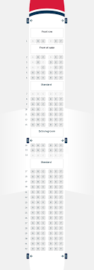 Jet2 Seating Chart Boeing 737 800 Zitplaatsen Seating Chart Air France Winglets