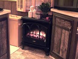 duraflame 750 black freestanding electric stove with remote control