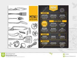 Cafe Menu Template Restaurant Cafe Menu Template Design Food Flyer Stock Vector 11