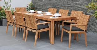 image of reclaimed teak garden table and chair