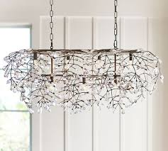 contemporary rectangular chandelier within bella crystal pottery barn ideas 2