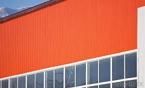 corrugated metal is typically used as metal siding for industrial buildings