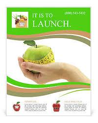 Apple Flyer Templates Dietary Food Apple Flyer Template Design Id 0000010590