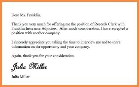 Decline Job Offer Letter Rejection Content Template Literals