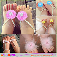 pearls baby toddler barefoot sandals jewelry baby girl feet ring with shabby chic rhinestone embellished newborn boots for toddlers cute shoes for