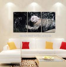 white tiger poster large wall art 3 piece black white wild animals pictures canvas on 3 piece framed wall art for sale with white tiger poster large wall art 3 piece black white wild animals