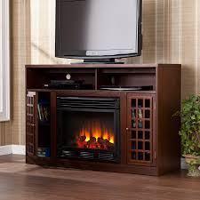 charming stand furniture design with black wooden corner endearing type featuring varnished fireplace partial open shelf