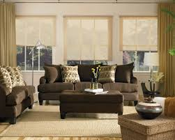 living room ideas with chocolate brown sofa brown leather sofa with blue cushions wall color with brown sofa