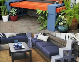 concrete block furniture. Bench : Cinder Block Furniture Awesome Concrete Patio How To Make A From Blocks 10 Amazing Ideas Gratifying Garden Legs
