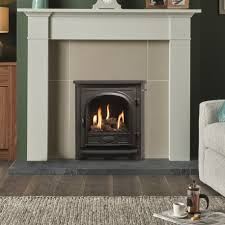 bottled gas high efficiency inset gas log stove fire cast iron mayo logic he lpg 89 glhecfc next day delivery ireland