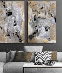 extra large wall art gray gold black