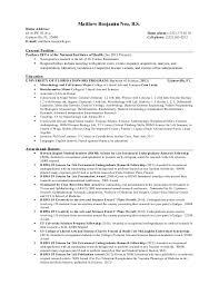 Resume Undergraduate
